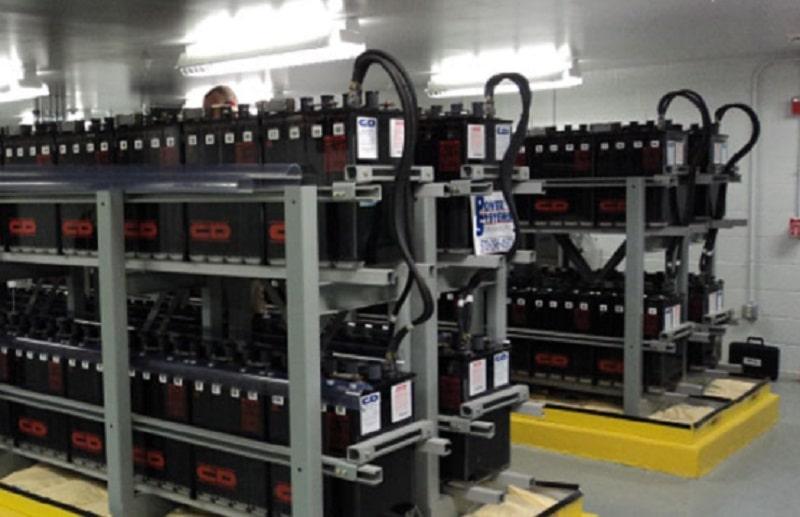Chantier de batteries