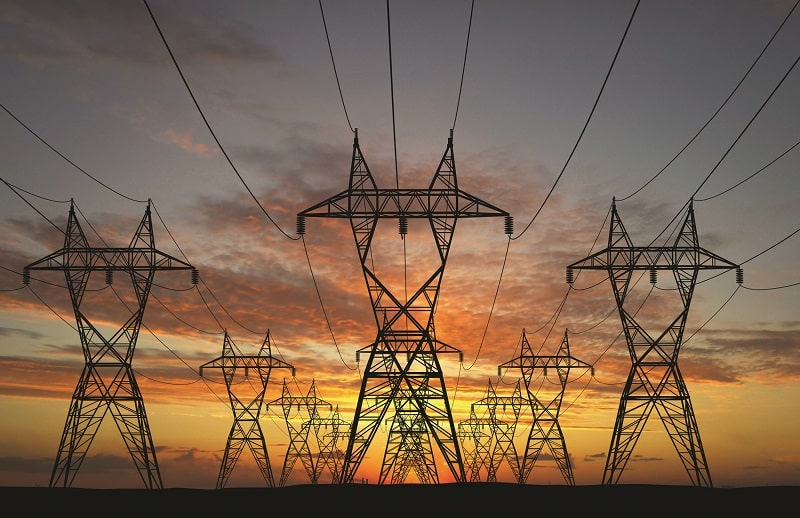 Electric high voltage tower